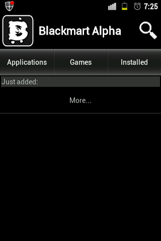 the application look like